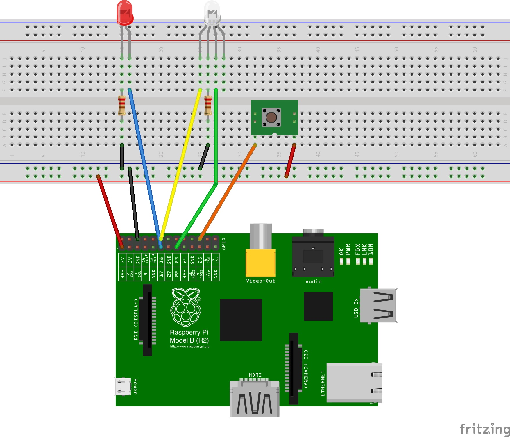 Fritzing Breadboard View