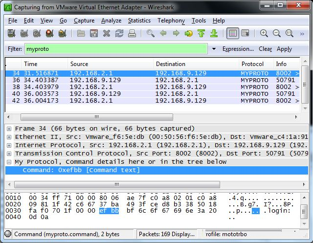 Wireshark Dissector