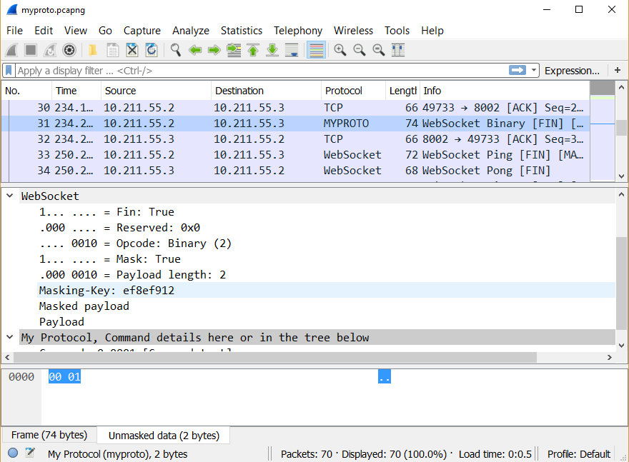 writing custom wireshark dissector